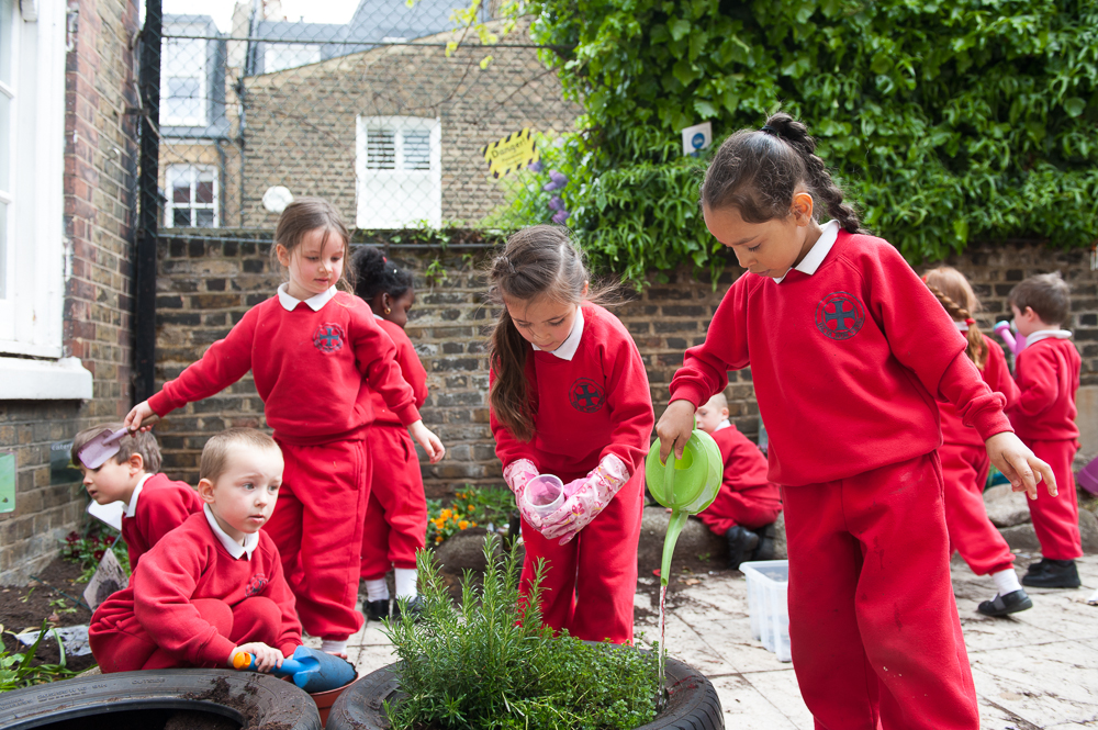 EYFS children garden Holy Cross